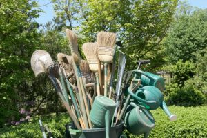 This image has an empty alt attribute; its file name is gardening-tools-300x200.jpg